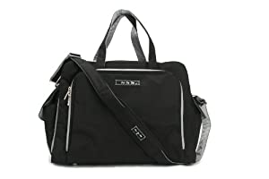 Ju-Ju-Be Be Prepared Diaper Bag, Black/Silver