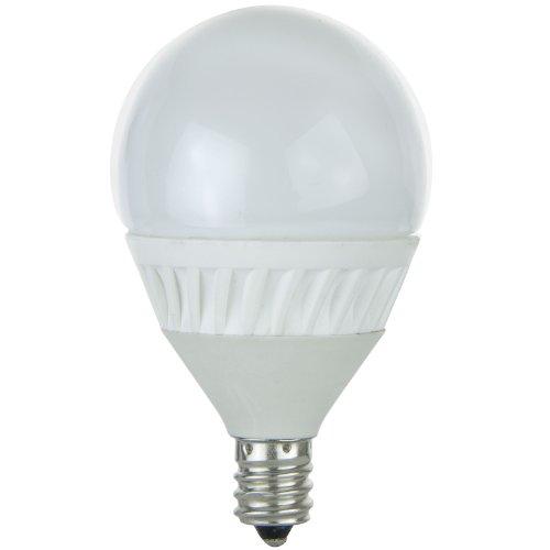 Sunlite G16.5/4.5W/E12/D/FR/30K 120-volt Candelabra Base Dimmable LED G16.5 Globe Lamp, Warm White