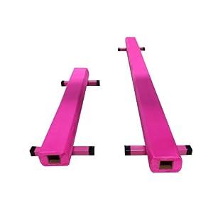 com : The Beam Store 12-Feet Sectional Balance Beam, Pink : Gymnastics