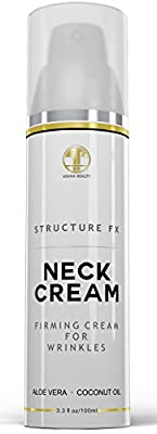 Neck Firming Cream for Wrinkles 3.3oz - With Aloe Vera, Coconut Oil & Collagen - Skin Rejuvenation Anti Aging Cream for Neck and Chest (Decollete) - Skin Care Products by Asana Beauty - 100ml
