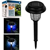 Pure Garden Solar Bug Zapper LED and UV Light set of 3