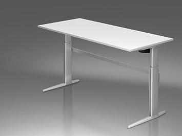 Mesa de formación XE Serie de tamaño: 72-119cm H x 180cm B x 80cm t, color (tablero): Blanco