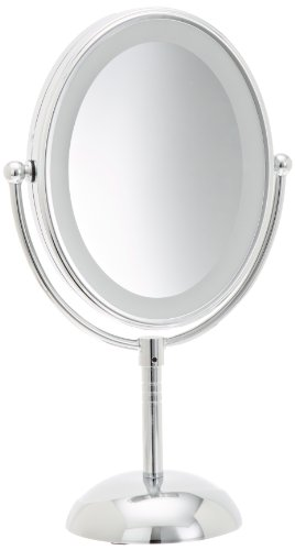 Conair Reflections LED Lighted Collection Mirror, Polished Chrome Finish (Lighted Vanity Mirror Conair compare prices)