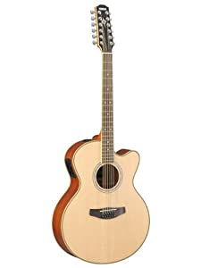 yamaha cpx700ii 12 12 string cutaway acoustic electric guitar natural musical. Black Bedroom Furniture Sets. Home Design Ideas