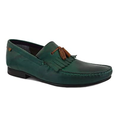 Ted Baker Tephra 3 Mens Leather Loafers Dark Green 8