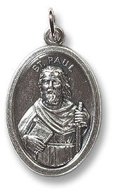 100 Piece Pack, Patron Saints Medals, St. Peregrine, Italian Oxidized Silver. Patron Saint of Cancer & Running Sores