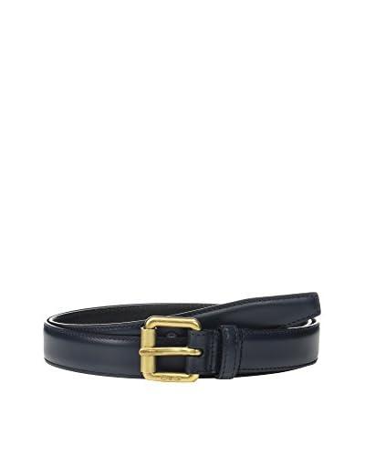 Dolce & Gabbana Cinturón Piel Azul Marino