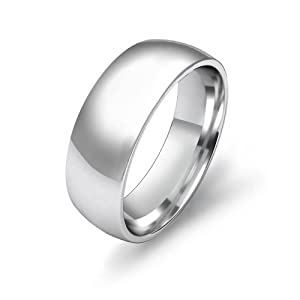 10.4g Men's Dome Wedding Band 7mm Comfort Fit Platinum Ring (4)