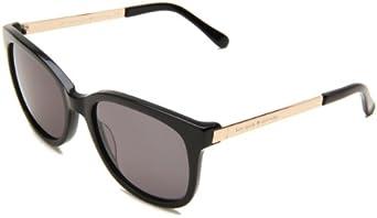 Kate Spade Women's Gaylas Oval Sunglasses,Black Frame/Dark Gray Lens,One Size