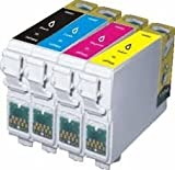 4 X T0715 Compatible Printer Ink Cartridges - Black/Cyan/Magenta/Yellow - Multipack for Epson Stylus SX200