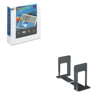KITAVE05604UNV54095 - Value Kit - 17quot; Tan Burnish Floor Pads (AVE05604) and Universal Economy Bookends (UNV54095)