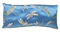 Lavender Filled Silk Eye Pillow - Turquoise Dragonflies