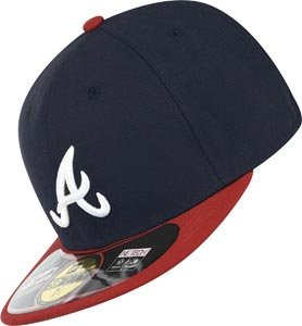 NEW ERA Cap Basic Authentic Atlanta Braves navy red white (7 3/8), 7 3/8