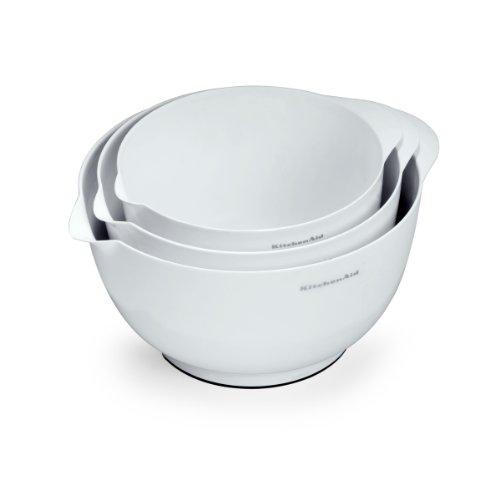 Kitchenaid Classic Mixing Bowls, White, Set Of 3 front-434137