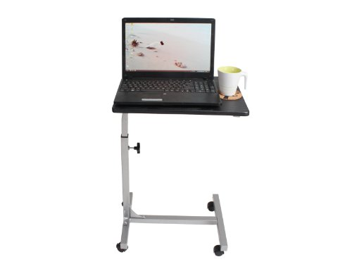 Coavas Mobile Laptop Computer Stand Desk Portable Simple Laptop Cart Reading Holder with Swivel BlackTop (Pedestal For Desk compare prices)