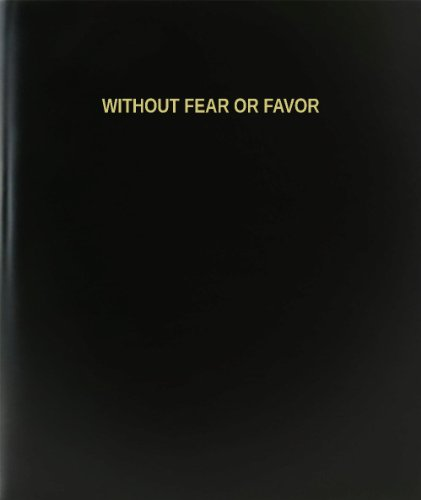 BookFactory® Without Fear Or Favor Log Book / Journal / Logbook - 120 Page, 8.5