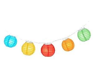 12' String Lantern Lights Multicolor