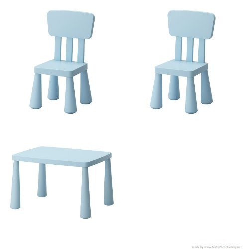 Ikea es mammut mesa para ni os azul claro y mammut para ropa de ni os silla azul claro 2 - Mesas y sillas para ninos ikea ...