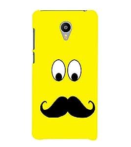EPICCASE Yellow face Mobile Back Case Cover For Meizu m2 Note (Designer Case)