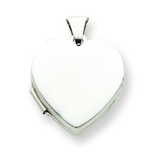 Sterling Silver Plain 18mm Heart Locket. Metal Weight- 1.62g.