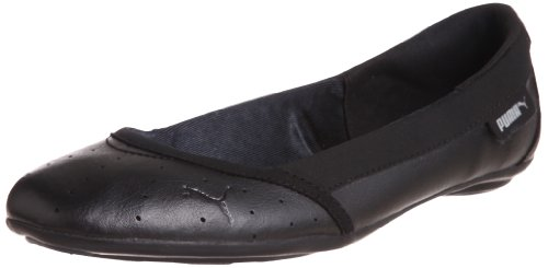 Puma Women Wynne Ballet Pearl Wn Black Ballet Flats 7 UK
