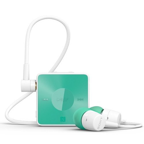 Sony Sbh20 Smart Wireless Nfc Bluetooth 3.0 In-Ear Headphones Stereo Headset Earbuds - Turquoise (Green)