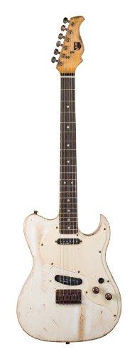 Axl Badwater Eldorado Electric Guitar, Off White