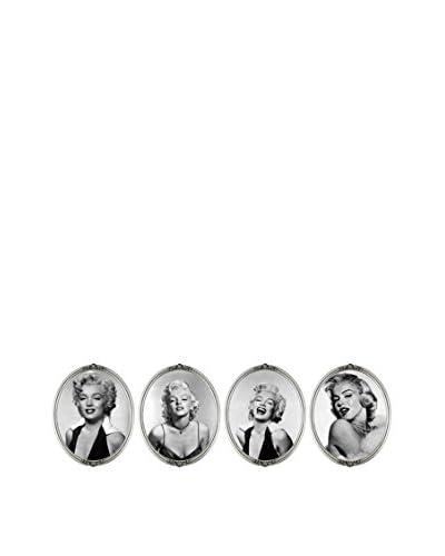 LO+DEMODA Wandtattoo 4er Set 3D Marilyn