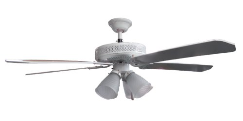 Ceiling fan with four lights white finish style 220v will not work