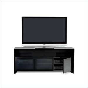 Cheap BDI Casata Wood Flat Panel/Plasma TV Stand in Black Stained Oak (2823B)