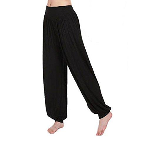 Aokdis (Tm) Hot Selling Women Comfort Modal Sports Clothes Yoga Loose Bloomers Pants (Xl, Black)