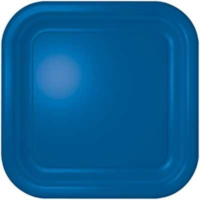 Marina Blue Square Dinner Plate 12 Count