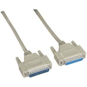 InstallerParts 25 ft DB25 M/F Serial Cable 25C Straight