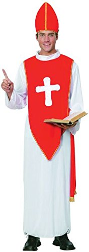 Red & White Men's Bishop Costume