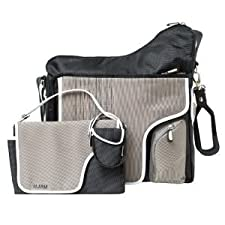 Useful Nylon JJ Cole System Diaper Bag (Changing pad, tote and Pacifier included) - Black Stitch Nourrisson, Bébé, Enfant, Petit, Tout-Petits
