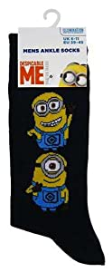 Mens Despicable Me Minions Socks (Double Minion)
