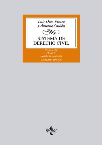 Sistema de Derecho Civil: Volumen IV (Tomo 2) Derecho de sucesiones: 4 (Derecho - Biblioteca Universitaria De Editorial Tecnos)