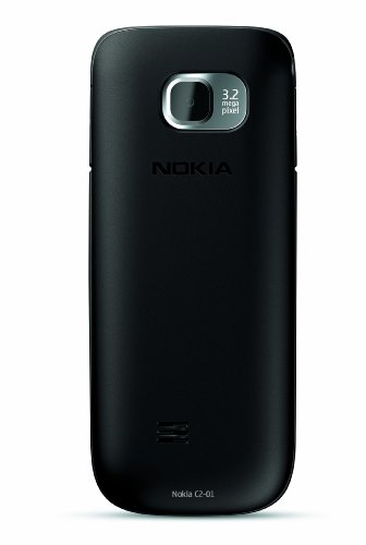 Nokia C2-01 Unlocked GSM Phone with 3.2 MP Camera and Music and Video Player–U.S. Version with Warranty (Black)