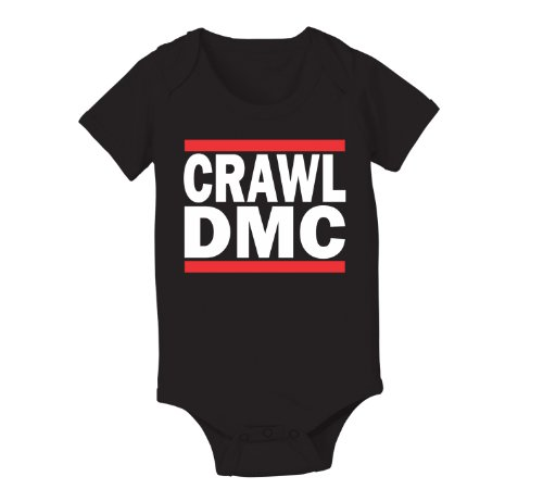 Crawl Dmc Hip Hop Infant Baby One Piece 6 Months Black