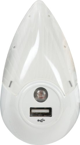 RCA USBNLL1 Night Light USB Charger - Eggshell
