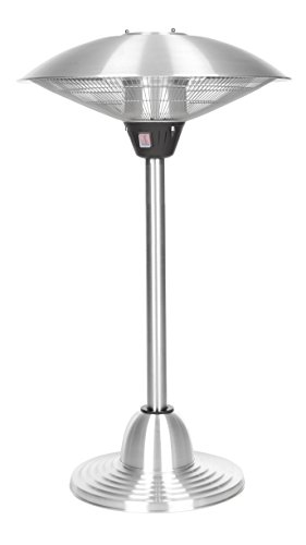 Fire Sense Indoor/Outdoor Infrared Tabletop Heater and Stand, Stainless Steel (Fire Sense Infrared Heater compare prices)