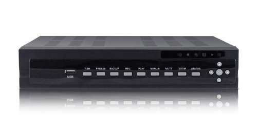 New 4 Channel Embedded Linux US411ZS D1 H.264 Network DVR No Hard Drive, Real time True Triplex with built web server for remote viewing and operation, backup and operation 4CH DVR 480FPS SATA ready