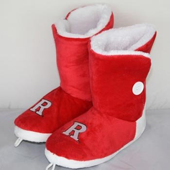 Cheap Rutgers Scarlet Knights Womens Team Color Button Boot Slippers (B006KYRECM)