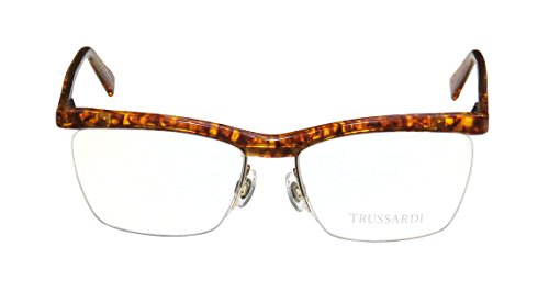 trussardi-12511-mens-womens-rx-able-popular-style-designer-half-rim-spring-hinges-eyeglasses-eyewear