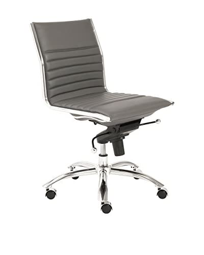 Euro Style Dirk Low Back Office Chair No Arms, Grey