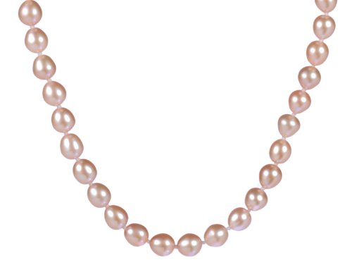 8-9mm Pink Rice Pearl Endless Necklace 64