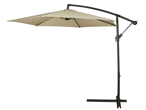 tan-10ft-outdoor-deck-patio-yard-umbrella-off-set-tilt-cantilever-hanging-canopy