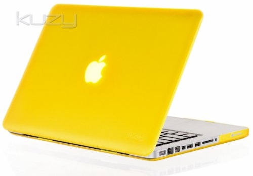 #!  Kuzy - YELLOW Rubberized 13-inch Hard Case Cover See Thru for MacBook Pro 13.3