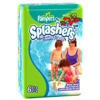 Pampers Splashers Swim Diapers Size 6 (37+ lbs) 15 ea, 8 Packs