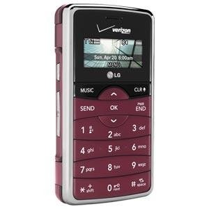 LG enV2 VX-9100 Maroon QWERTY Cell Phone for Verizon Wireless